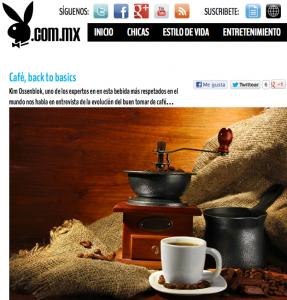 Barista Kim Ossenblok en Playboy Mexico 2013