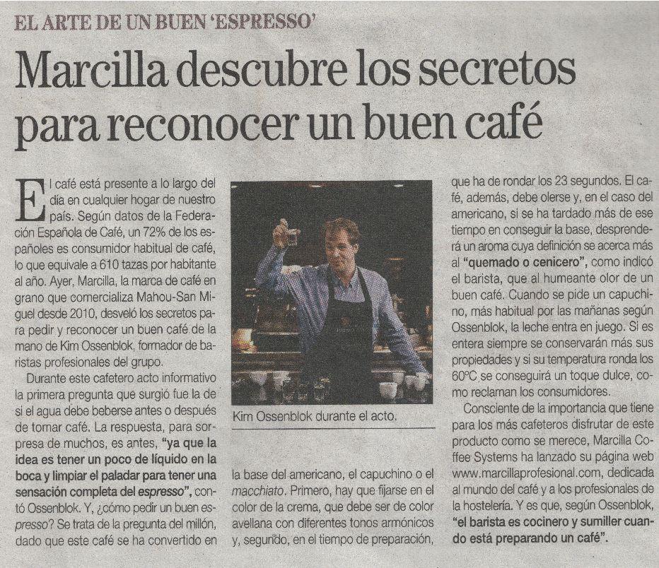 Marcilla descubre los secretos del buen cafe