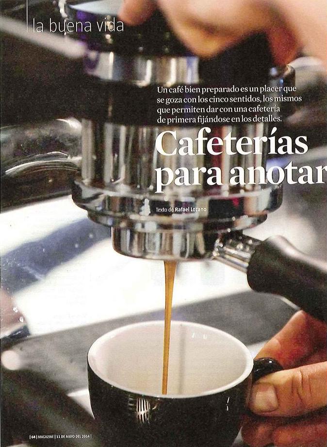 Guia de Cafeterias en La Vanguardia